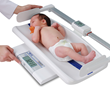 Detecto's MB130 Digital Baby Scale Shown with Optional Digital Length Measuring Rod