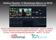 Manhattan Edit Workshop & the International Colorist Academy offer Resolve 12 Workshops in 2016