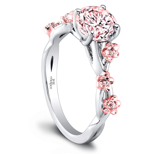 World\'s Most Expensive Cherry Blossom Jewelry$100,000 Cherry Blossom  Diamond Ring with Pink Diamonds