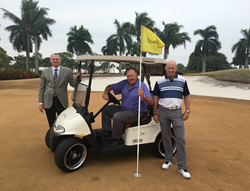 Delaire GM/COO Trent Squire, Head Golf Pro Joe Jones and Assistant Pro Bill Jones tour construction progress.