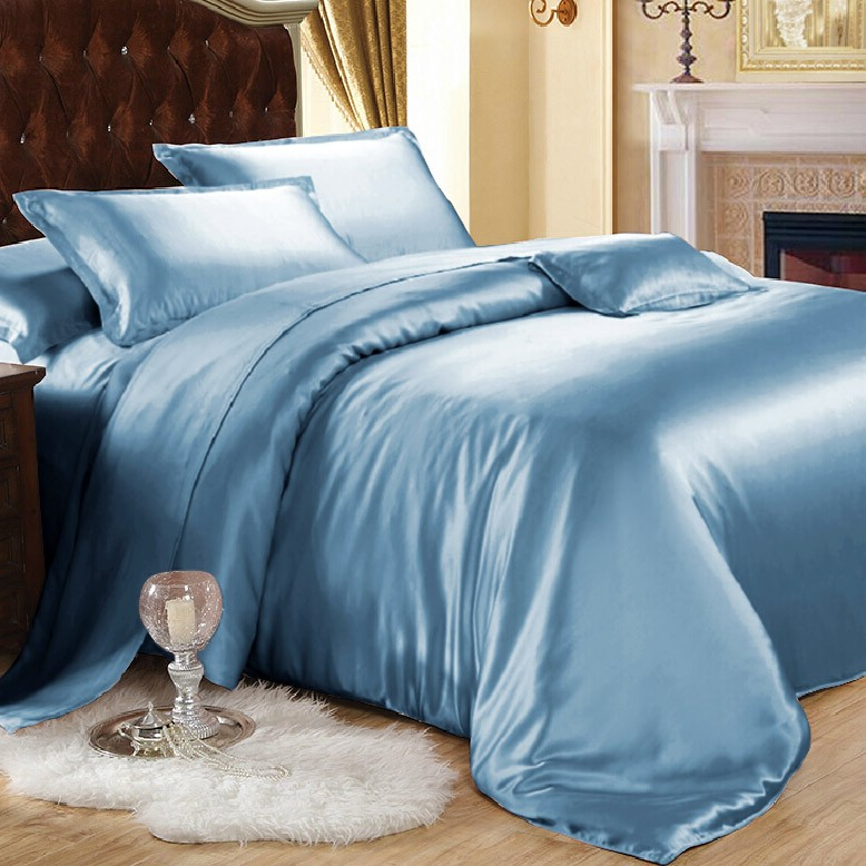 blue mulberry silk sheets are now added to ellesilk collection. Black Bedroom Furniture Sets. Home Design Ideas