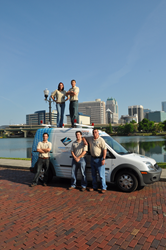 VoiceOnyx team with new service truck for Orlando