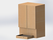 The Kick Plate Stool is a household invention which allows a person to achieve the most ideal height