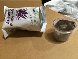 Pooki's Mahi's Single Serve Collection.  Buy @ http://subscriptions.pookismahi.com/products/100-kona-coffee-peaberry-eco-single-serve-cups