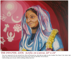 Inspired by a real-life widow celebrating Holi, the portrait speaks the common language of endurance