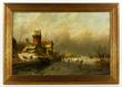 Jan Jacob Spohler (Dutch, 1811-1866), Dutch winter scene