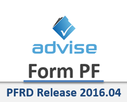 Advise Technologies - Form PF - PFRD Release 2016.04