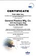 General Plastics Announces AS9100 Rev C Quality Management System Certification