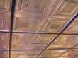 Tin ceilings can also be used in suspended ceilings.