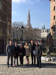 Stetson's award-winning Vis team in Vienna (L-R): Leon Innerkofler, Jonathan Diamond, Sadiya Hashem, Kaelyn Steinkraus, Taylor Ryan and Brien Squires.