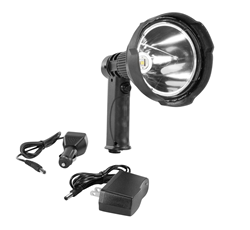 25 Watt Rechargeable Handheld LED Spotlight with AC and DC Power Cord