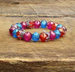 Crown Bracelet with Czech Glass Beads from SassyBelleWares,