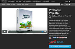 FCPX Effects - Pixel Film Studios - ProBook Pop Up