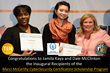 "Jamila Kaya & Dale McClinton Announced as Inaugural Recipients of the ""Marci McCarthy CyberSecurity Certification Scholarship"" courtesy of T.E.N., ISE Talent, and ICMCP"