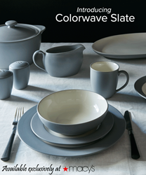 Colorwave Slate by Noritake, Exclusively at Macy's