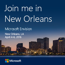 We're going to NOLA for Microsoft Envision