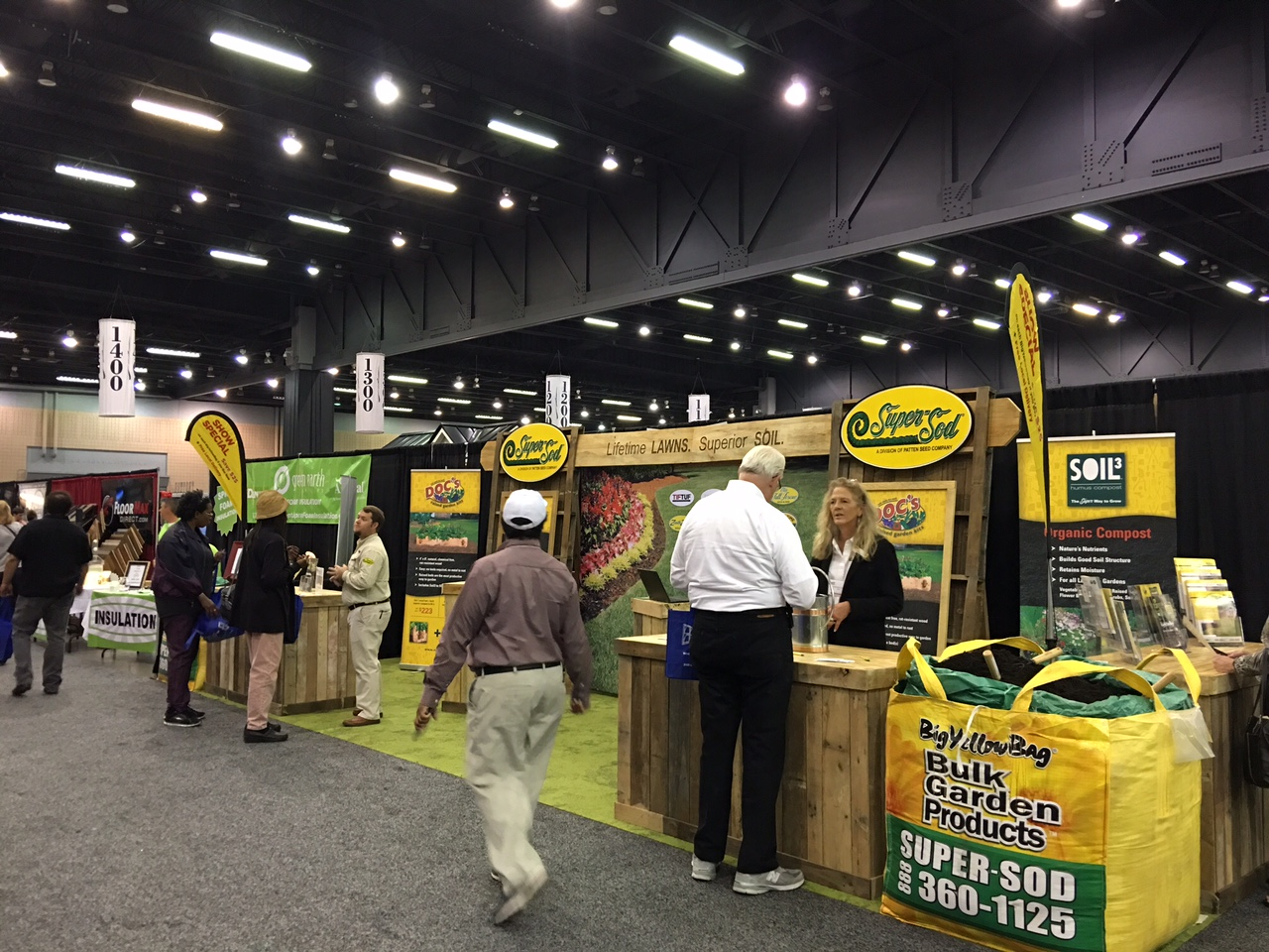 super sod is rolling out their new home u0026 garden show booth