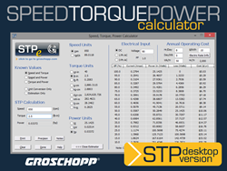 Groschopp's STP calculator can be downloaded for easy-access.