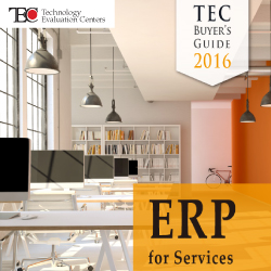 The TEC 2016 ERP for Services Buyer's Guide provides useful, actionable software selection advice for the services industry.