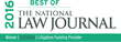 National Law Journal Names USClaims Best Litigation Funding Provider Fourth Year in a Row