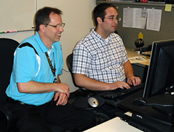 Joseph Show (right) works alongside his supervisor, Ed Mills (left).