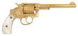 Extremely Rare Factory Engraved Gold-Plated Smith & Wesson 38 Hand Ejector 1st Model DA Revolver for Pan American Expo, Buffalo, NY 1901, Sold for $23,000