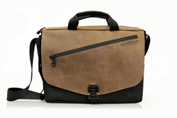The New! Cargo Bag—grizzly brown leather flap