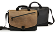 The New! Cargo Bag—grizzly leather and black leather flap options