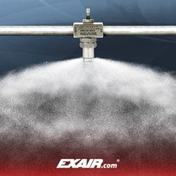 EXAIR's new 1/4 NPT Internal Mix 360 Degree Hollow Circular Pattern Atomizing Spray Nozzle