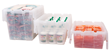 Akro-Mils Clear Attached Lid Containers