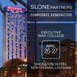 Slone Partners Announces Benefactor Sponsorship of Executive War College 2016