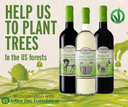 Candoni Wines Arbor Day campaign