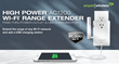 Amped Wireless Ships First High Power AC1200 Wi-Fi Extender with USB Charging Port, Extra Power Outlet and 11,000 Sq Ft of Wi-Fi Coverage