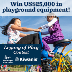 Enter the Legacy of Play Contest at facebook.com/Kiwanis.