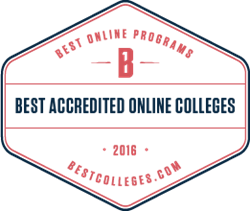 Best Online Colleges of 2016 Badge