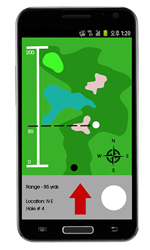 Trek Ball is an app invention that helps golfers in locating their lost golf balls in the field.