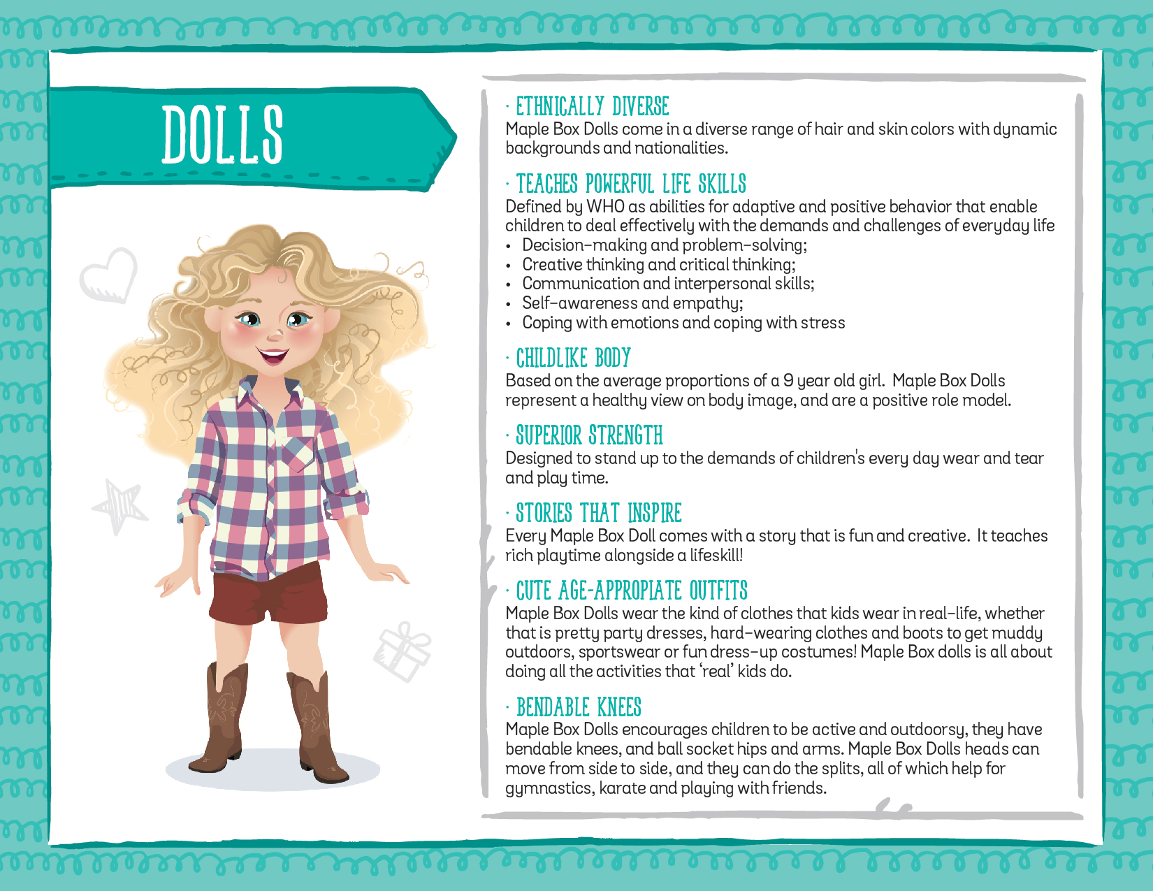 maple box dolls seizes opportunity to make parents lives easier about the dolls