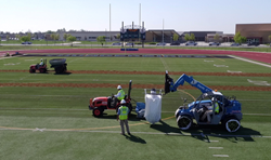 Infill replacement process by Hellas Construction at RFK High School