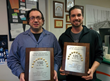 Brooklyn Minuteman Press franchise owner Wayne Herman (left) with Designer/CSR Sean Sacca (right)
