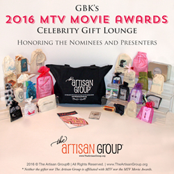 The Artisan Group's Swag Bag for GBK's 2016 Pre-MTV Movie Awards Celebrity Gift Lounge