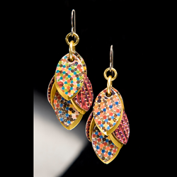 Marsala Petals to the Metal™ Earrings from Diana Ferguson Jewelry