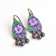Floral Hand Painted Earrings from LoveYourBling,