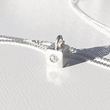 Diamond Cube Pendant, from K D'Angelo Designs.