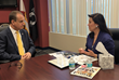 Belinda-Keiser-speaking-with-U.S.-Congressman-Mario-Diaz-Balart