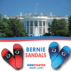 Bernie Sandals for Bernie Sanders Supporters Now Available on Kickstarter!