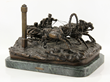 Vassil Yacovlevitch (Russian 1831-1905) Bronze Sleigh with Horse