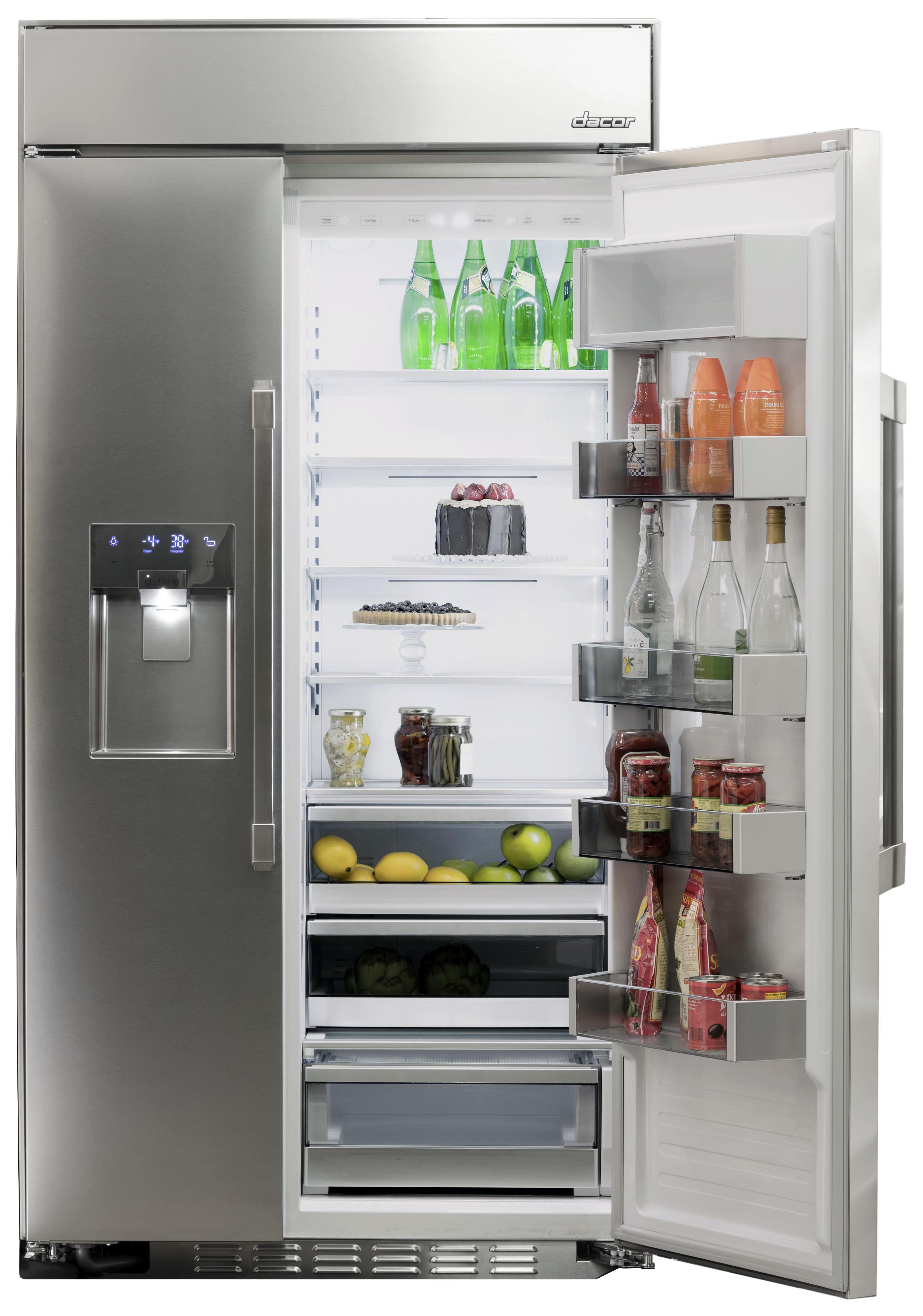 Dacor introduces discovery 42 inch built in side by side for Dacor 42 refrigerator