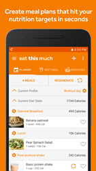 Eat This Much's Android app lets you instantly create meal plans and grocery lists on the go