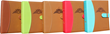The TeaBook, Available in Brown, Tea Green, Chai, Cinnamon Red, and Teal