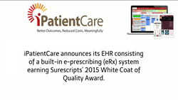 iPatientCare EHR Receives Surescripts 2015 White Coat of Quality Award